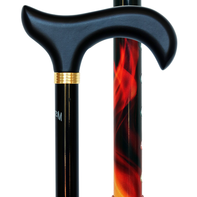 Gehstock Flammen höhenverstellbar
